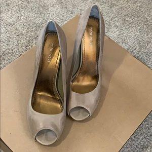 Nine West  8.5 M leather peep toe pumps Tan